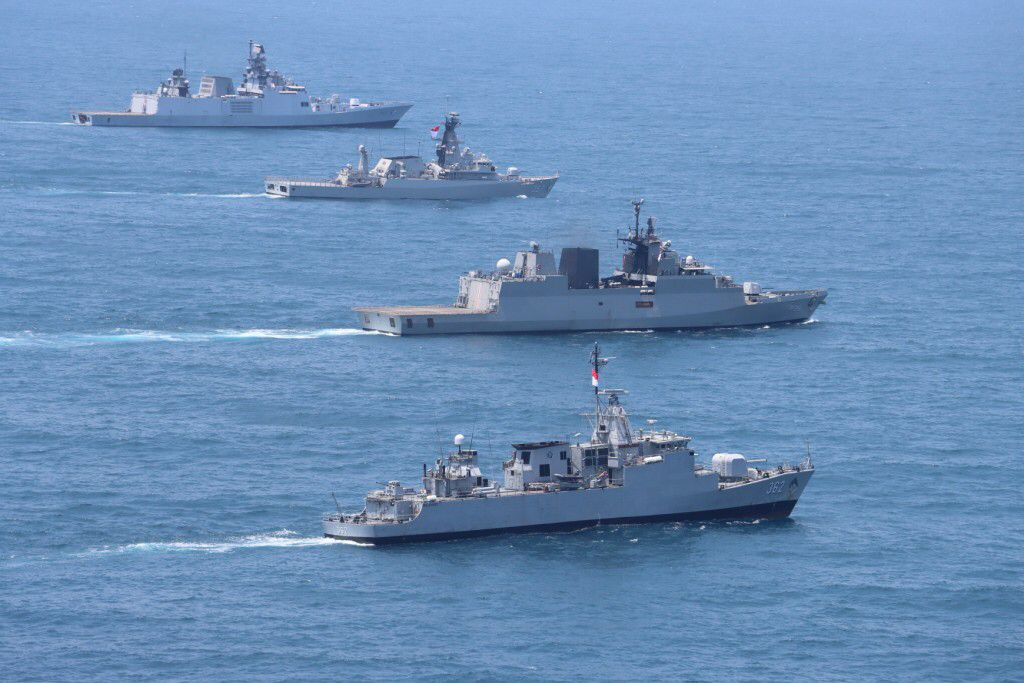 Indonesian Navy and Indian Navy Concluded Exercise Samudra Shakti in Sunda Strait