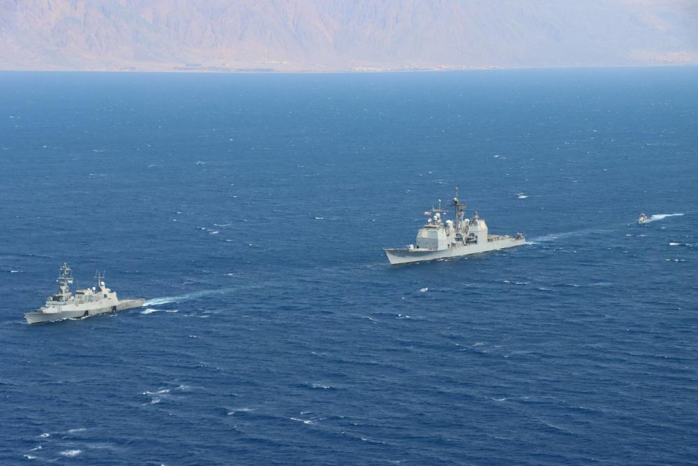 Israeli Navy and US Navy Warships Conduct Milestone Maritime Patrol in the Red Sea