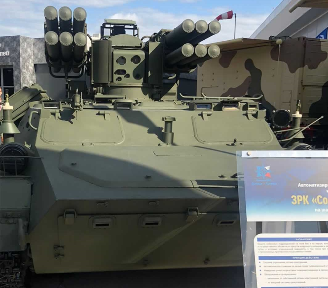 The Sosna combat module fitted on BTR-82A 8x8 Armoured Personnel Carrier