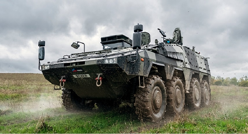 Rheinmetall and RBSL Unveil Boxer with Mortar Mission Module at DSEI 2021