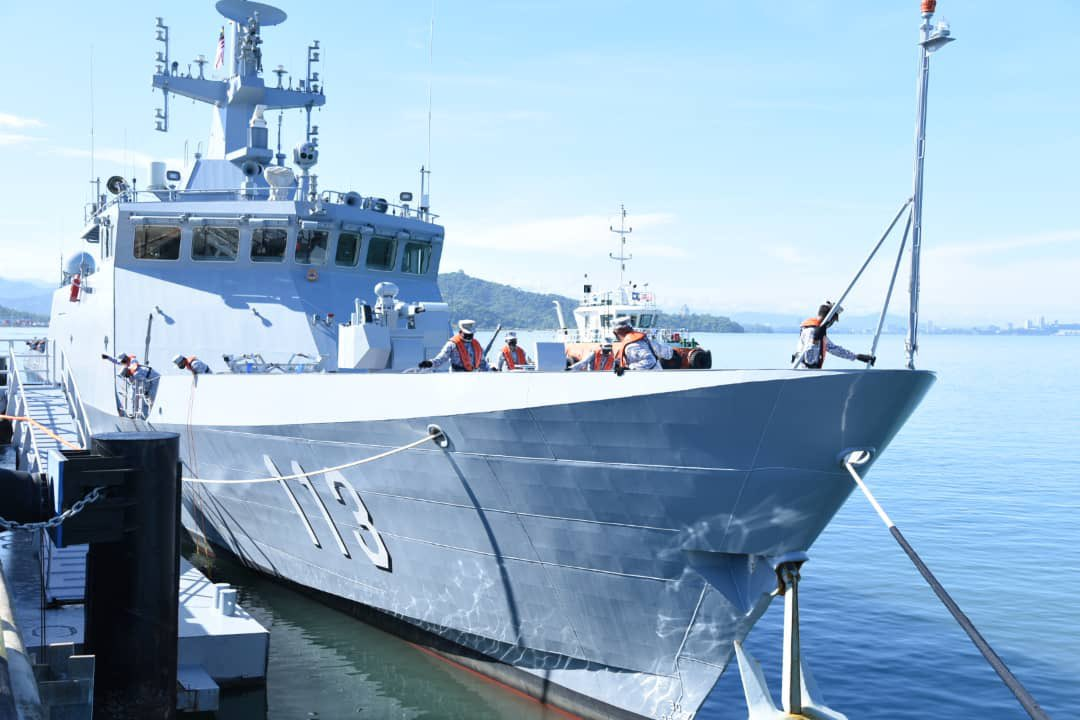 Royal Malaysian Navy KD Badik (113) Arrives at Sepanggar Bay Naval Base, Sabah