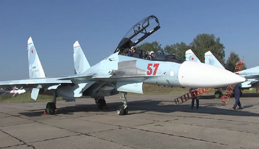 Russian Air Force Su-30SM Arrive in Belarus For Establishment of Joint Air Training Center