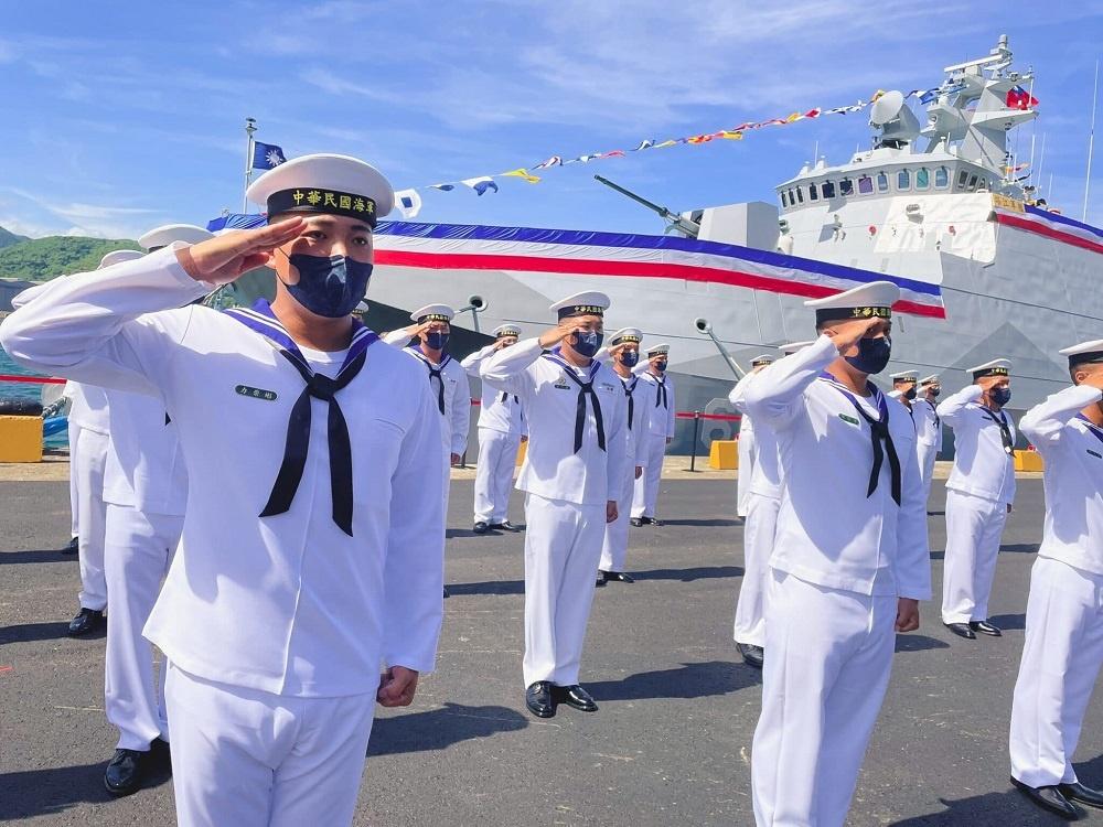 Taiwan President Launches Stealth Guided Missile Catamaran Corvette Ta Chiang (PGG-619)