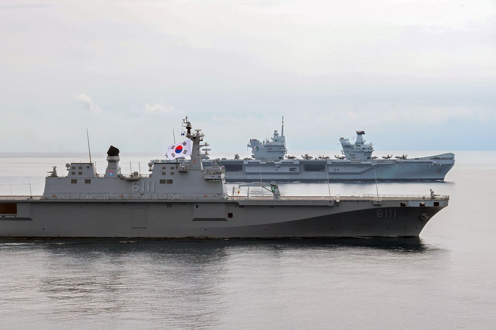 UK Carrier Strike Group Completed Exercises with Republic of Korea Navy