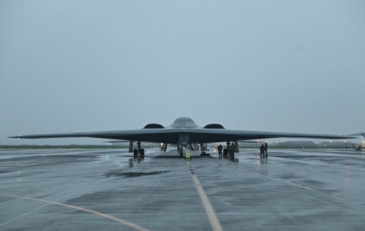US Air Force B-2 Spirit Bombers Return Home After Bomber Task Force Mission