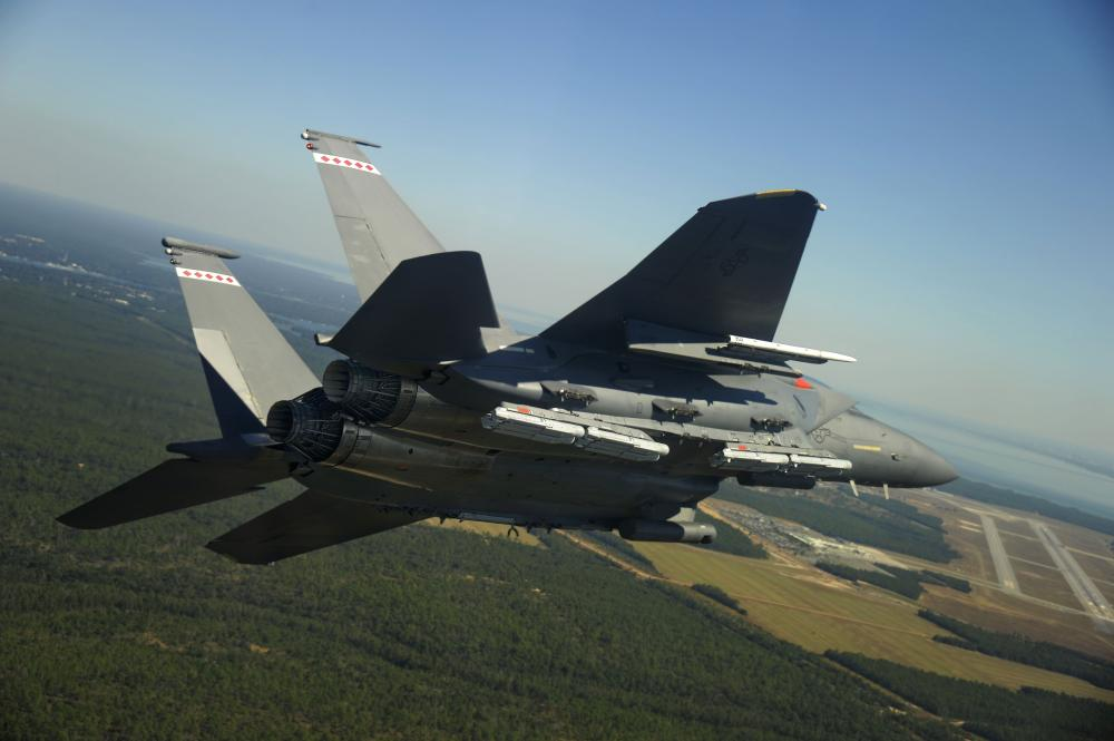 US Air Force F-15Es Drop 10 StormBreaker During Weapons System Evaluation Program