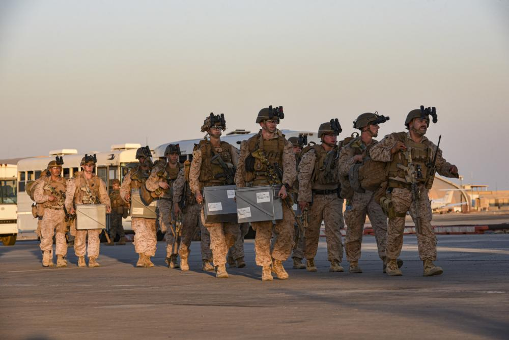 US Air Force 386th Air Expeditionary Wing Airmen Uphold Theater Gateway Name During NEO Airlift
