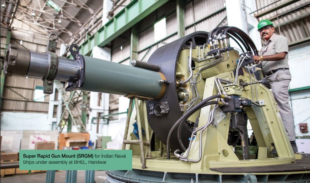 BHEL to Supply Upgraded Super Rapid Gun Mount (SRGM) for Indian Navy Frigates