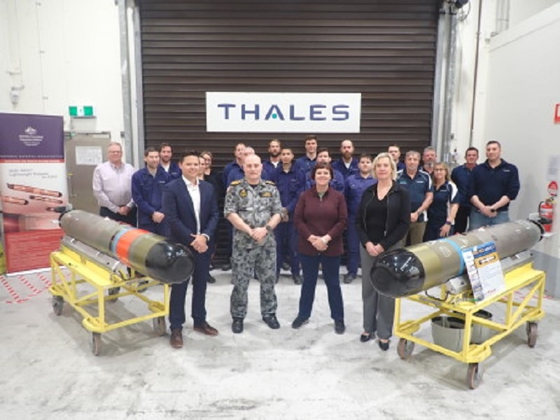 Thales Awarded Contract to Support Royal Australian Navy's MU90 Light Weight Torpedo
