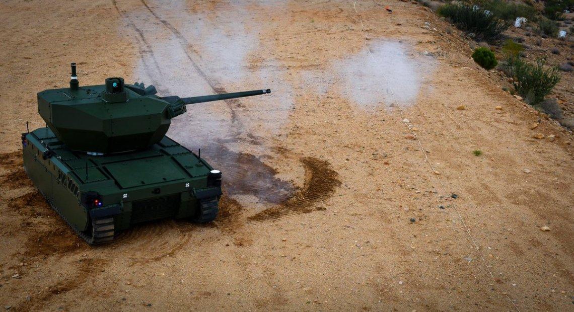 Expeditionary Modular Autonomous Vehicle-Medium Caliber Armament (EMAV-MCA)