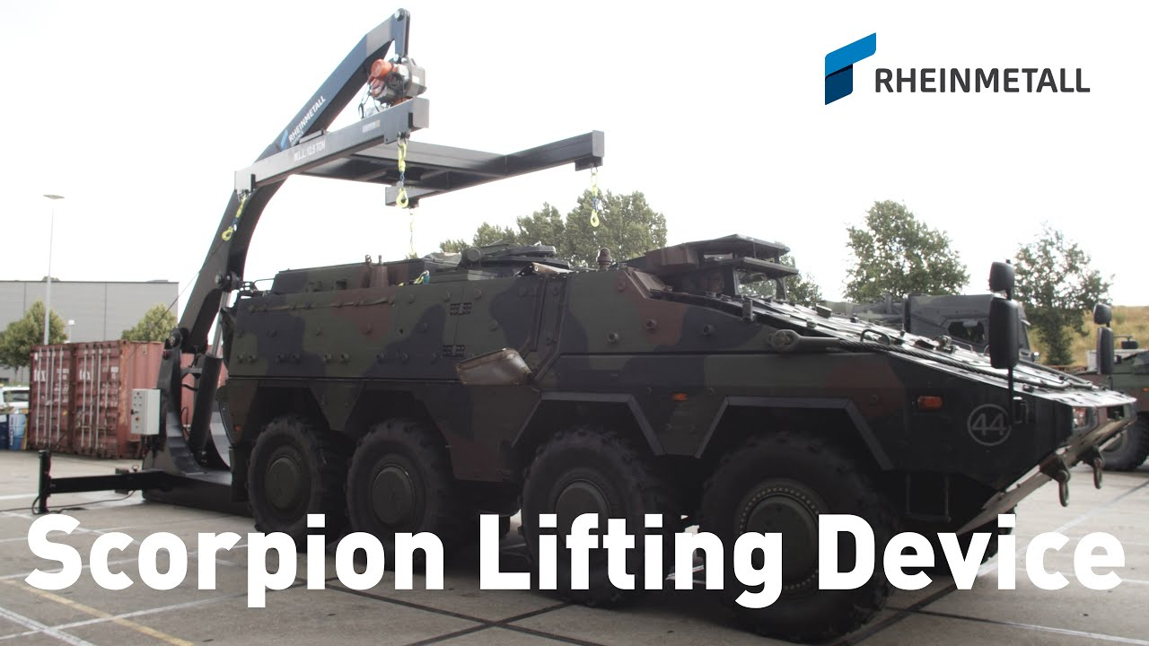 Rheinmetall Unveils Scorpion Lifting Device for Boxer