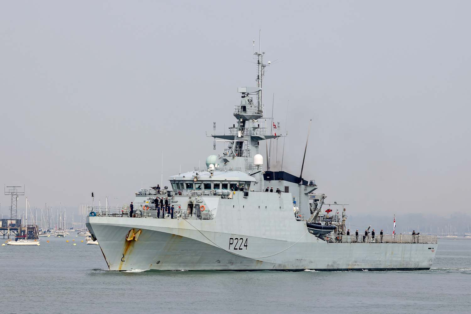 Royal Navy HMS Trent Deploys on Security Mission to West Africa