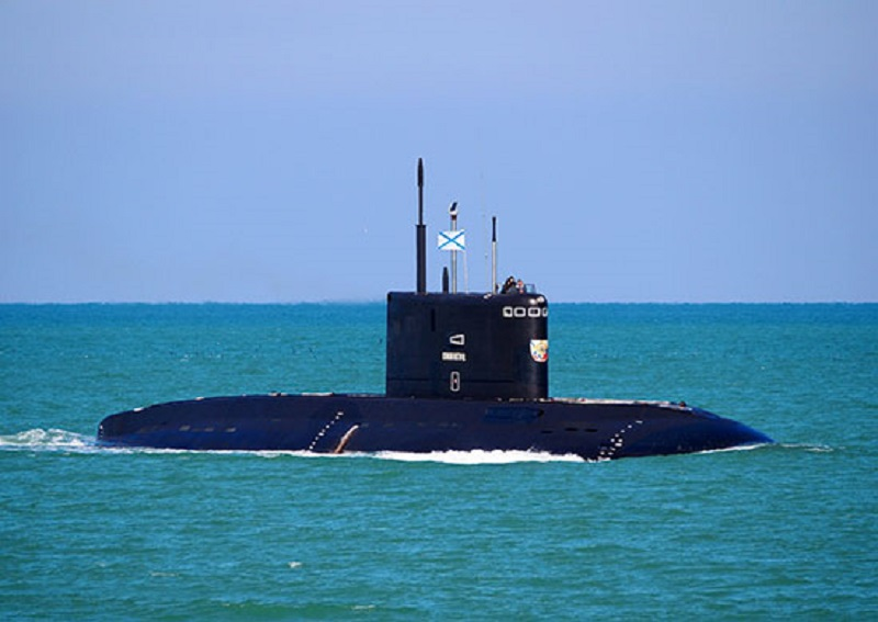 Russian Navy Submarine Fires Kalibr-PL Cruise Missiles in Black Sea Drills