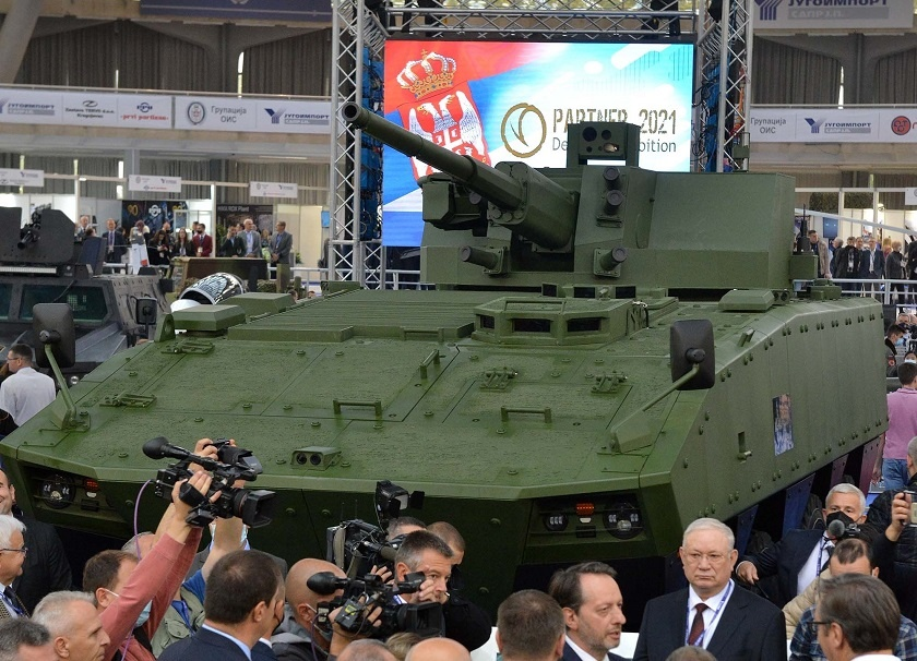 Yugoimport SDPR Unveiled Its Lazanski IFV Armed with AU-220M Remote Controlled Weapon Station