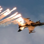 F-16 Fires Flares