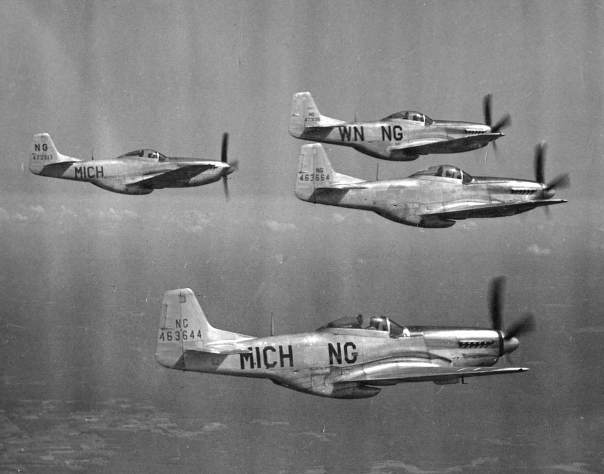 A fight of Mustangs with the Michigan Air National Guard