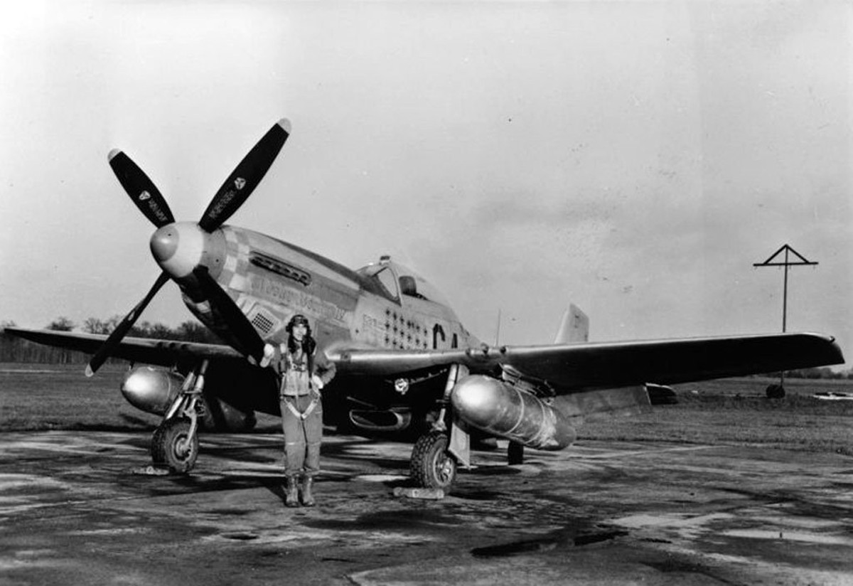 A P-51 Mustang Fitted with a Rolls-Royce Merlin Engin