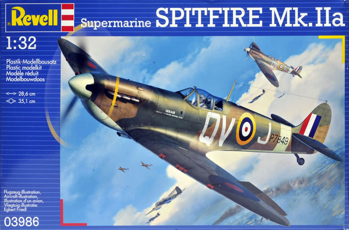 Revell's 1/32 scale Spitfire MkIIa: 1/4 the cost of a Tamiya Spit, and 2/3 the quality.