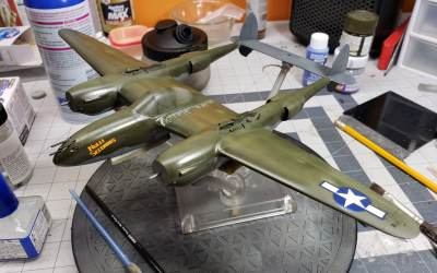 "Tamiya's ""White Box"" 1/48 P-38F/G – First Thoughts, Part 3."