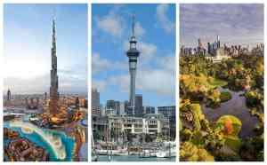Dubai, Auckland, Melbourne