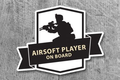 Nálepka AIRSOFT PLAYER on board
