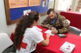 Peacekeeper italiani durante la donazione (4)