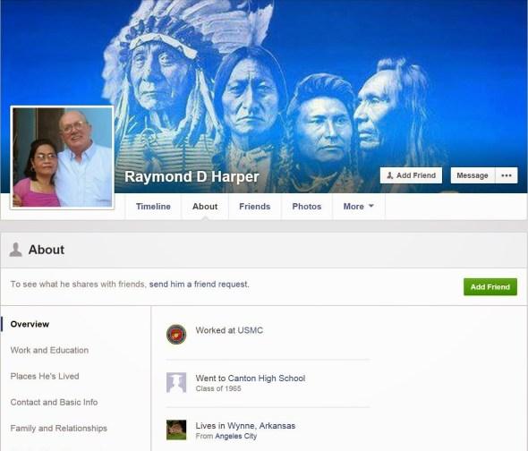 Raymond D Harper Facebook Page