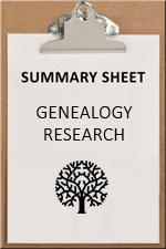 SUMMARY SHEET - genealogy