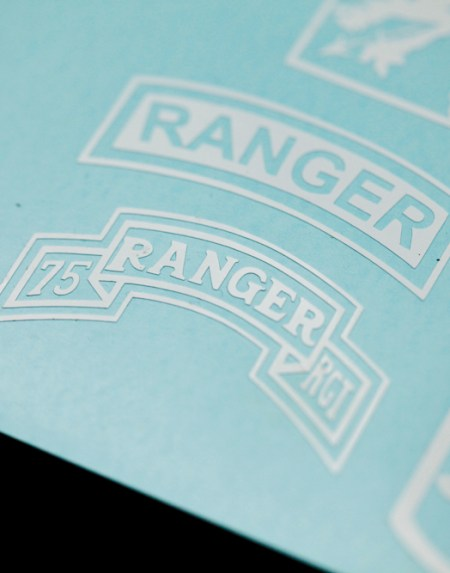 75th Ranger tab vinyl decal