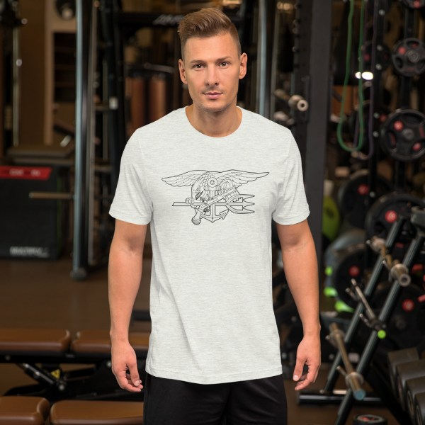 Navy SEAL trident outline tshirt