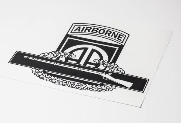 82nd airborne cib vinyl decal
