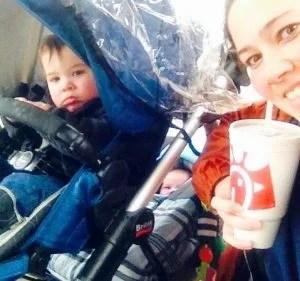 Hot Mess Mom success selfie