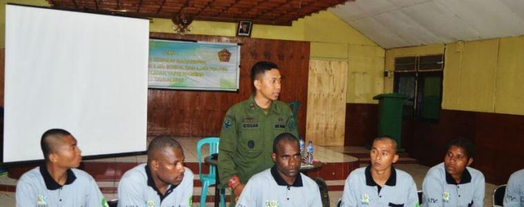 Pendidikan Dasar Militer Resimen Mahasiswa Papua STISIP Amal Ilmiah