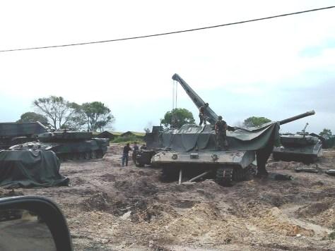 5 Tank Leopard 2 yang alami kerusakan. foto: formil kaskus
