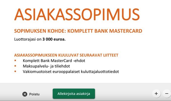 Kokemuksia Komplett Bank luottokortti