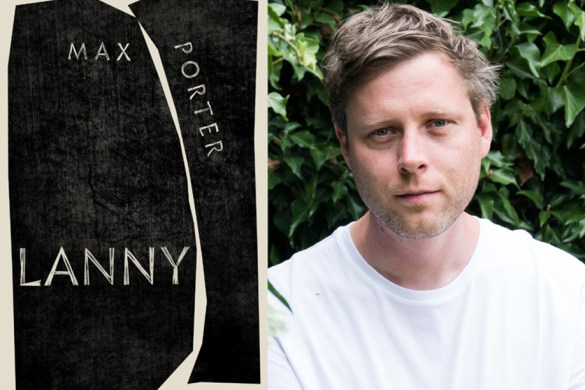 The Book cover of experimental fiction book Lanny and a photo of author Max Porter
