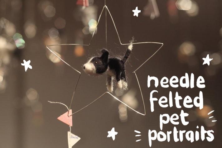 needle felted pet portraits