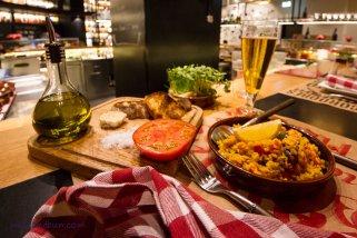 Aromatic and fresh Spanish food
