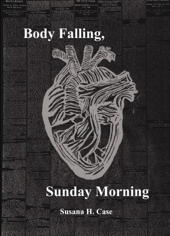 Cover image of anatomical heart over newspaper text, with title of book and author's name.