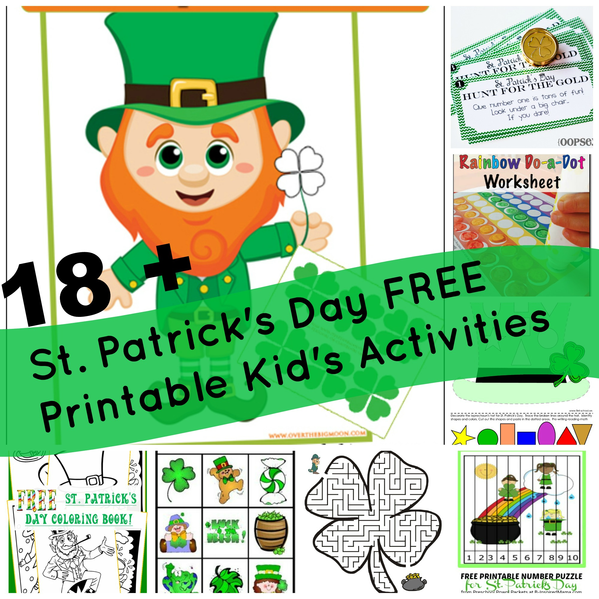 18 St Patrick S Day Free Printable Kid S Activities