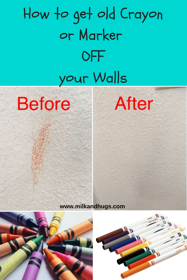 Is your toddler a budding artist? How to finally get old crayon or marker off your walls!