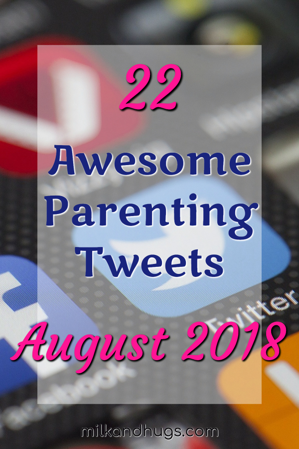 Looking to laugh or smile? Here is a roundup of the Best Parenting Tweets I ran across during the last week of August, 2018! #Parenting #Funny #Tweets