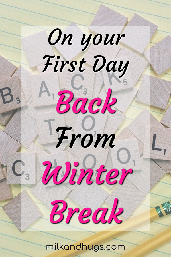 On your first day back from Winter Break - I'll miss you even as I cherish my time alone. Yes, I have become 'that mom'. #kids #school #thatmom