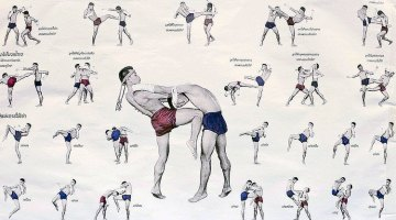traditional muay thai stance