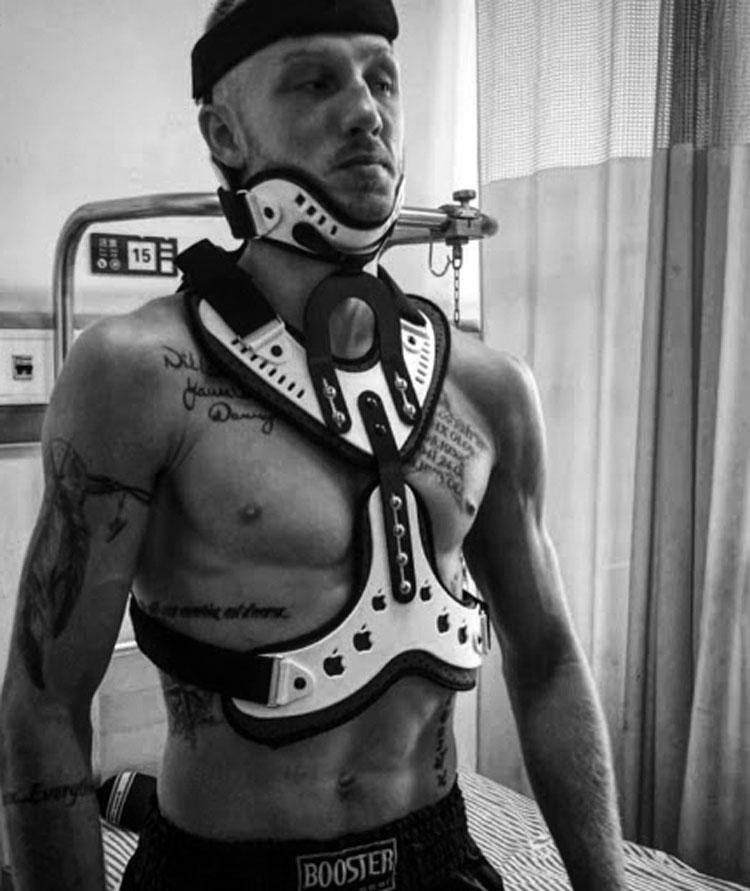 Pascal Schroth muay thai broken neck