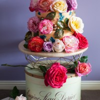 Floral Romance On Cake