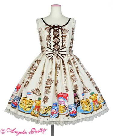 Angelic Pretty Honey Cake Round JSK Ivory Re-Release