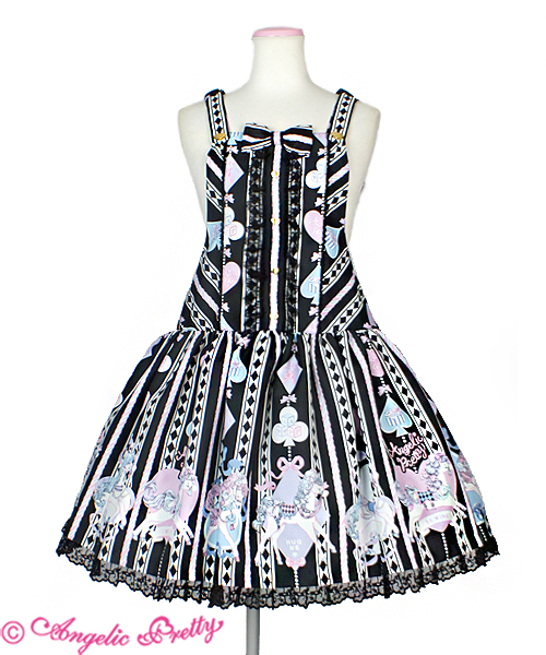 Angelic Pretty Milky Pony Carnival Salopette Black