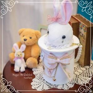 Yuni Fairy Magic Mr. Rabbit Bag White x Pink