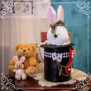 Yuni Fairy Magic Mr. Rabbit Bag Black x Red